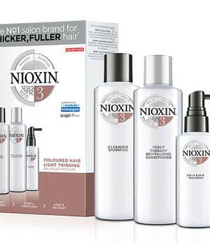 3-СТУПЕНЧАТАЯ СИСТЕМА NIOXIN №3 (300 мл) для окрашенных волос с тенденцией к истончению